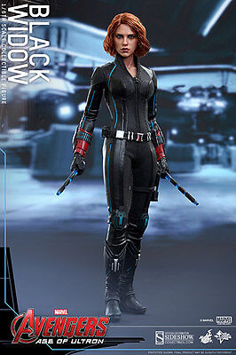 "Hot Toys Avengers Age Of Ultron Black Widow Mms288 1/6 12"" Action Figure New"