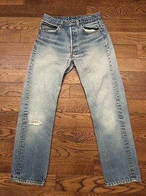 Vintage Made In USA Levi's 501 Distressed Denim Jeans - 31 X 28.5
