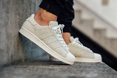 huge selection of 1c530 9c35a New   Mens Adidas Originals Superstar Rt Shoes S79477 Shell Toe Chalk White