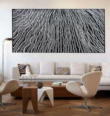 Huge 2000mm by 1000mm Aboriginal style painting aboriginal art by Anna Narnina