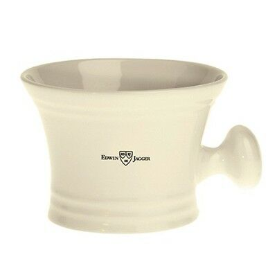 Edwin Jagger Porcelain IVORY Shaving Bowl With Handle, NEW, BOXED,  RN47, BEST £