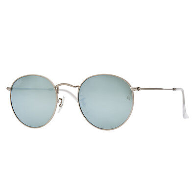 bd6ebc752d0 Ray-Ban Round Metal RB3447 019 30 50mm Silver Flash Lens Silver Frame  Sunglasses