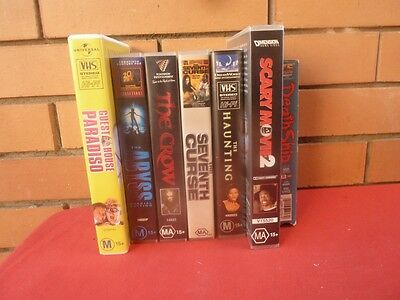Bulk Lot of  Horror VHS Movies. 7 tapes