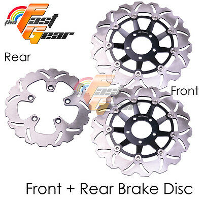 Front Rear SS Brake Disc Rotor Set For Suzuki GSF1200 S Naked Bandit 96-98 99 00