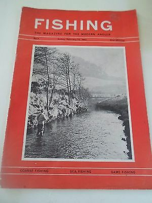 Vintage 22nd February 1963 FISHING The Magazine For The Modern Angler+Adverts