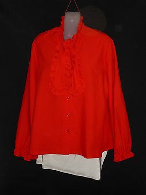 1960's Long Sleeved American Designer Blouse with Tie.