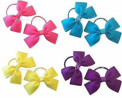 Crystal organza hair bows, clips or thin bobbles, toddler hair accessories/bows