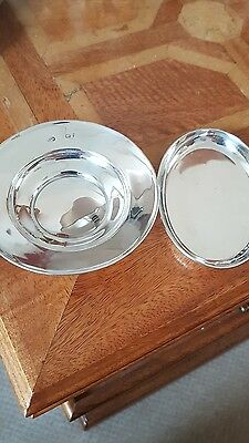 Solid Silver Comport and Pin Dish