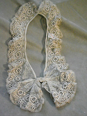 Vintage Collar Bib EC Edwardian 20s NOS Antique Lace BOW TAG