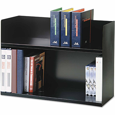 Book Rack Bookcases Shelves Shelf Storage 2 Tier Home Furniture Steel Black New