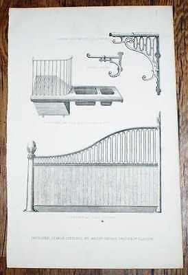 Engraved Plate, C19 Agricultural Book, Improved Stable Fittings by Smith & Co.
