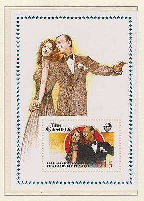 The Gambia Stamp Sheet Mnh 1987 Fred Astaire Stars Of Stage & Screen