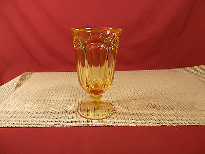 """Imperial Crystal Old Williamsburg Yellow Iced Tea Goblet 6 5/8"""""""