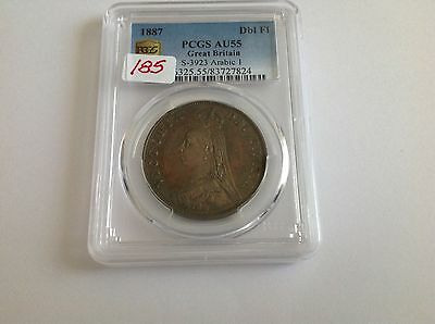 1887 Great Britain Double Florin PCGS AU 55