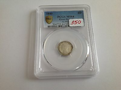 1840 Great Britain Fourpence PCGS MS 64