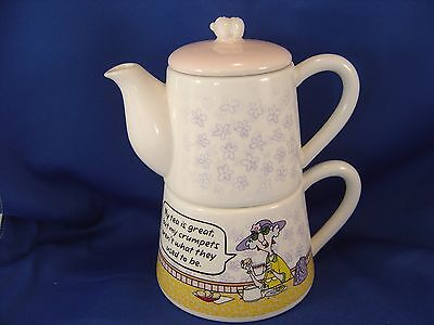 Hallmark Maxine Tea Pot Cup 3 Piece Set Mint Condition all Original Tag attached