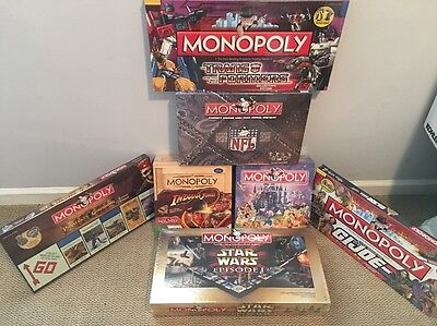 Monopoly board game, Lot of 7, all new & sealed