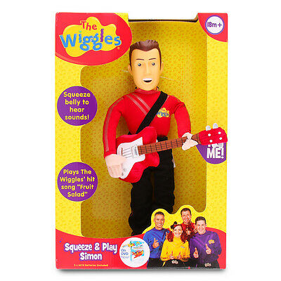 "NIB The Wiggles Red Squeeze & Play Simon 14"" Plush/Stuffed Doll/Toy Talks/Sings"