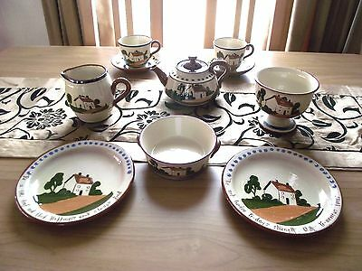 Devon/Torquay Ware - Watcombe Pottery - Various Items - Art/Cottage/Mottoware