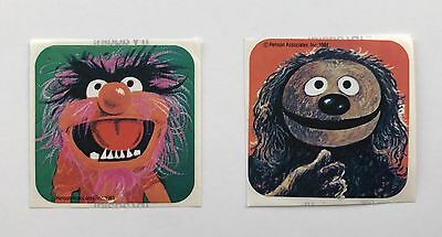 Vintage Kellogg's Corn Flakes Cereal Great Muppet Caper Stickers 1981 Premium