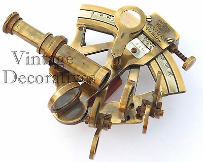 Nautical Brass Sextant Maritime Handmade Vintage Working Astrolabe Sextant Decor