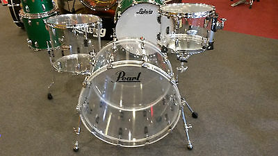 "Pearl Crystal Beat Acrylic 3pc Kit Set with 24"" Bass Drum"