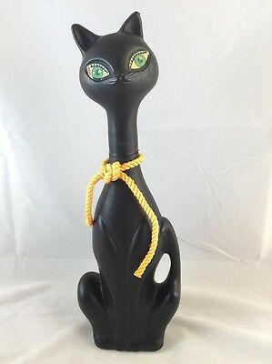 VINTAGE 1960s? BLACK Cat Soaky HALLOWEEN Soap Container SOAKIE MID CENTURY MOD