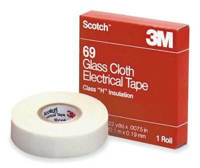 "3M 69-3/4""x66' 3/4 in x 66 ft Glass Cloth Electrical Ta"