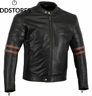 Bikers Gear UK Veste de Moto couleur Black Oxblood en cuir travaille Blouson...