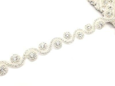 11'' Silver Colour Beautiful Bridal Rhinestone Belt Bridal Dress Lace, Trim