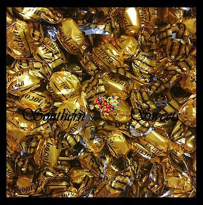 Gold Lollies Shiny Wrapped Eclairs Chocolate Flavour 1Kg Bulk Bag