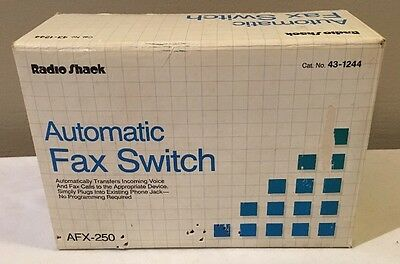 NEW Old Stock Vintage Radio Shack Automatic Fax Switch Model AFX-250