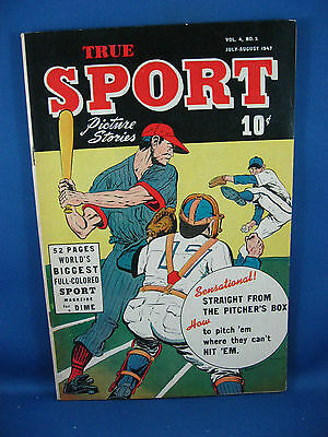 TRUE SPORT PICTURE STORIES Vol 4 # 2 Fine+ 1947 Headlight Story