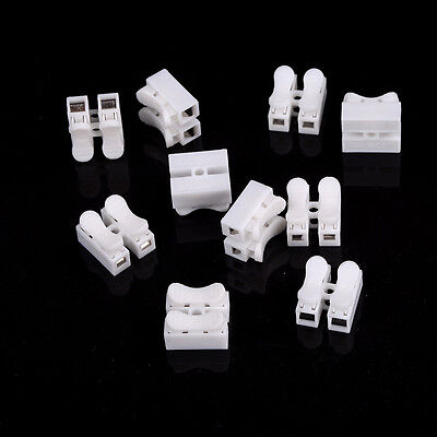 10X Electrical Cable Connectors Quick Splice Lock Wire Terminals Self Locking GT