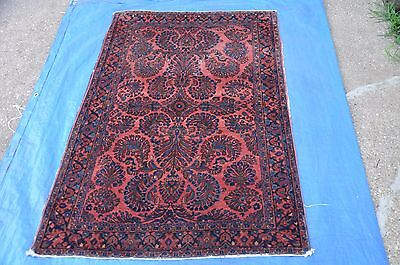Antique Persian Sarouk Kashan Rug 3x5 no.2