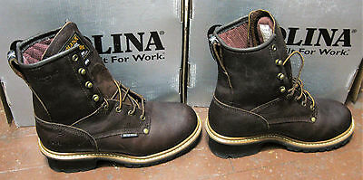 "Carolina - Men's - 8"" Waterproof Insulated Steel Toe Logger Boots - Size 8 2E"