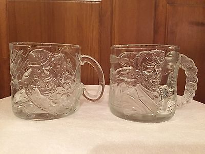 MCDONALD'S set of 2 Batman Forever mugs ~ Two-Face & The Riddler ~ 1995