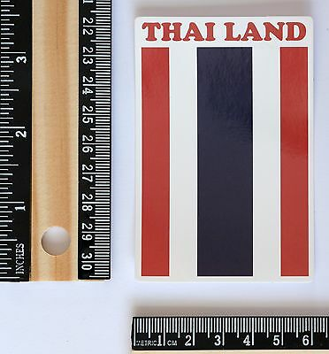 Thailand national flag travel suitcase luggage label decal vinyl sticker #2644