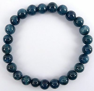 BLUE APATITE  Bracelet  -  Third-Eye Chakra, Mental Function, Psychic Ability