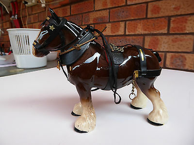 Old Large Porcelain Heavy Draught Horse Figure.