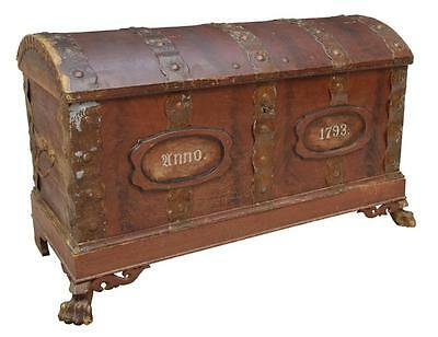 VERY LARGE DANISH ARCHED TOP 1793 TRUNK 18th Century ( 1700s )