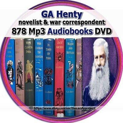 G. A. Henty Collection Audiobooks Children Kids Homeschool Mp3 DVD
