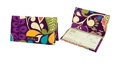 Vera Bradley Checkbook Cover in Plum Crazy