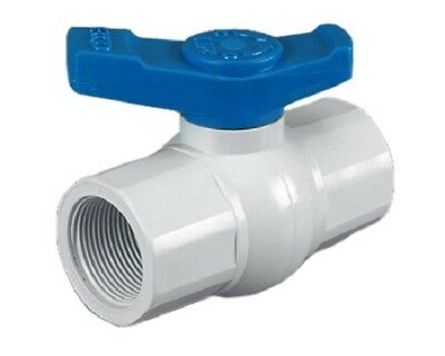 "NEW PVC Ball Valve Thread 1"" (25mm)"