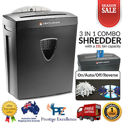 New 21L Paper Shredder Electric Cross Cut Home Office 10 A4 Sheet Credit Card CD