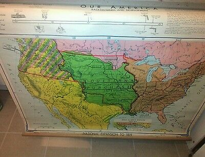 antique vintage denoyer geppert co. wa15 national expansion to 1819