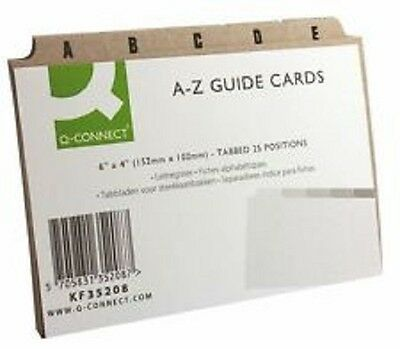 """A-Z Guide Cards Set 6x4"""" (152x102mm) - Buff Index Box Dividers Address Business"""