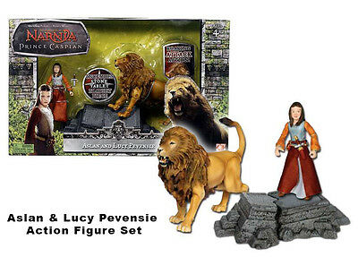 Chronicles of Narnia Prince Caspian - Aslan and Lucy Pevensie Figure Play Along