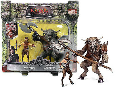 Chronicles of Narnia Prince Caspian Faun Mentius & Minotaur Asterius 2-Pack figs