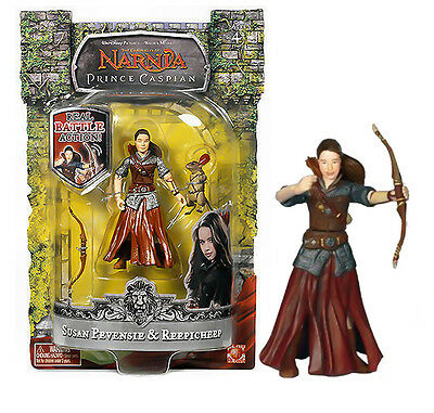 Chronicles of Narnia, the Prince Caspian - Susan Pevensie & Reepicheep Figure